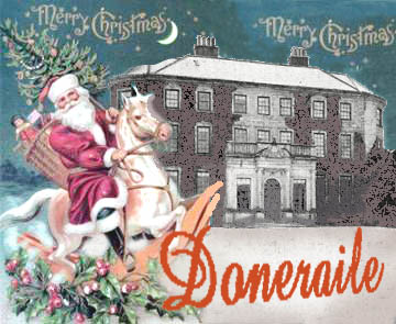 Santa arriving at Doneraile Court on horseback