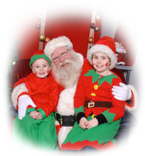 Santa At Doneraile with elves